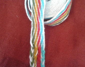 Tablet woven, Cardwoven, Elemental, Handfasting Cord