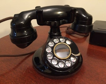 Vintage Art Deco 1927-30 Western Electric B1 102 phone with 2HB dial and E1 handset restored