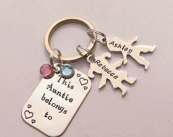 Personalised Auntie gift - personalized Auntie keychain - This Auntie belongs to - gift for aunt - aunt birthday gift