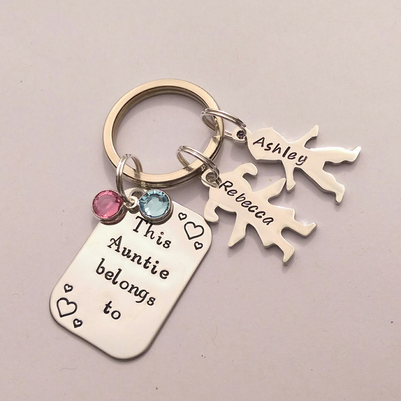 Personalised Auntie gift - personalized Auntie keychain gift - This Aunt Auntie belongs to - personalised Auntie keyring gift