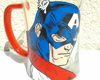 Captain America Superhero Beer Mug