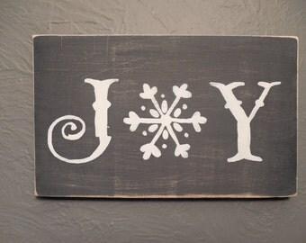 JOY wood sign Christmas winter
