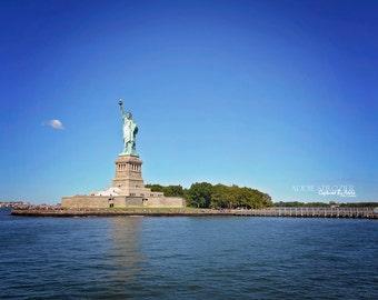NYC Statue of Liberty Print New York City / Lady Liberty Manhattan Hudson River New York New Jersey Wall Art