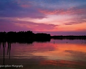 Sunset Lake Photography, Upper Peninsula of Michigan Inland Lake Photography, Sun rise River Print  Tranquil Photo, Country Lake Photography