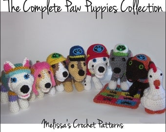 CROCHET PATTERNS - The Complete Paw Puppies Collection