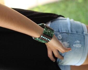 Green Bone Bracelet,