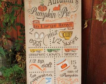 Thanksgiving Day Decor - Pumpkin Pie on a Sign