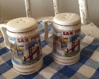 Vintage Kitsch San Francisco Souvenir Salt and Pepper Shakers