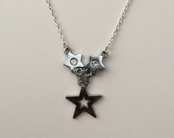 3 stars chain necklace with czs