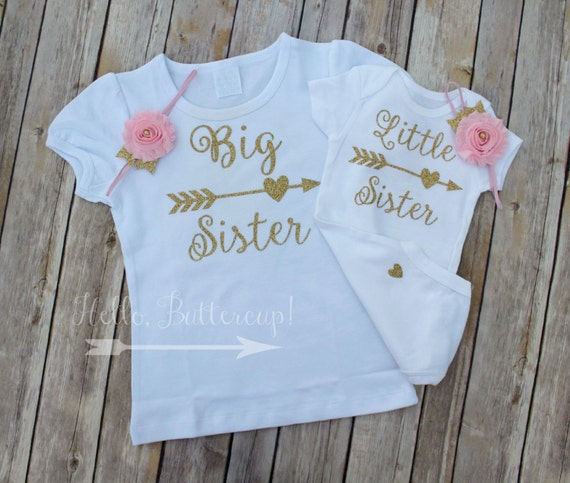 Big Sister Shirt Little Sister Bodysuit Amp Headband Matching