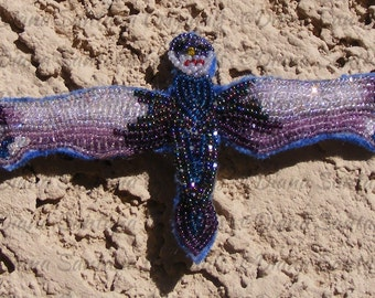 Dragonfly~ the 'Applique' Beaded Way (OOAK)