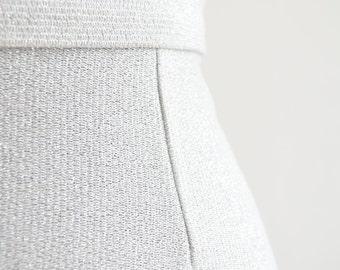 """long silver shimmer skirt - 24"""" waist"""
