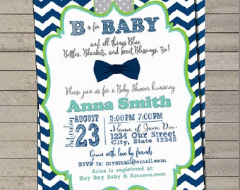 B is for Baby (custom colors) Invitation