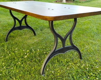 Machine Age Industrial Farmhouse Dining Table