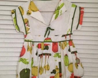 Vintage Clothes Pin Bag Handmade Little Girls Dress Design Wooden clip clothes pins