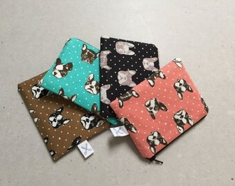 Mini zipper pouch Boston Terrier / French Bulldog