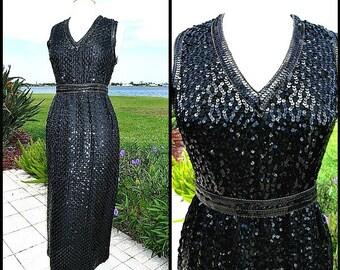 60s SEQUIN GOWN / fits S / Mardi Gras dress / Mardi Gras Gown / Jerry Marsch dress / vintage sequin dress / vintage 60s sequin gown