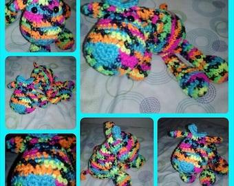 Multicolor Puppy Dog Stuffed Animal - Blacklight