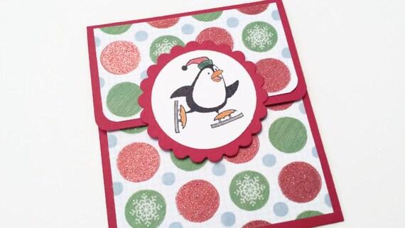 Penguin Christmas Gift Card