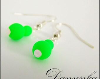 Green Neon Earrings