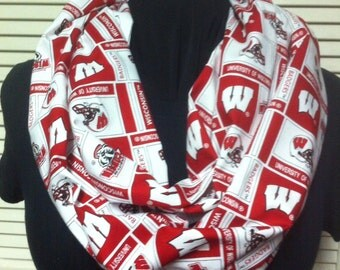 University of Wisconsin Badgers Football Cotton Infinity Scarf
