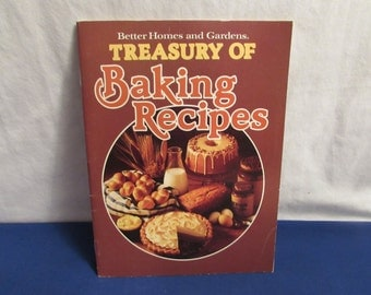 Better Homes and Gardens Cookbook TREASURY OF BAKING Recipes 1980 Cook Book