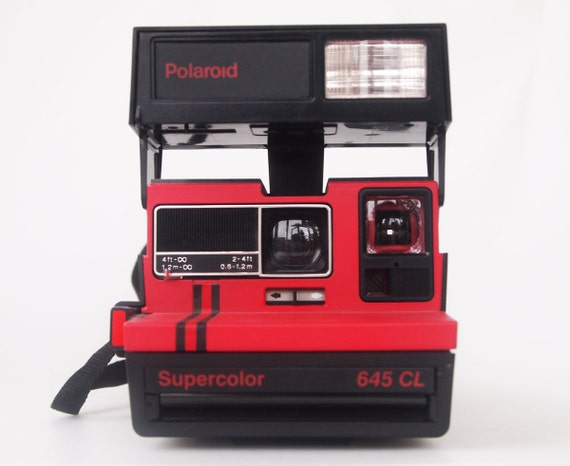 polaroid supercolor 645 cl red vintage close up camera. Black Bedroom Furniture Sets. Home Design Ideas