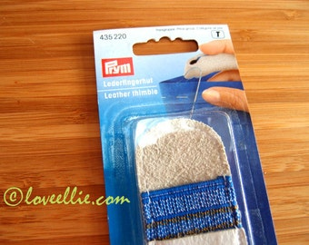 Leather Thimble by Prym - Full Finger Length Thimble - Ideal for Patchwork, Quilting, Heavy Fabrics, Hand Sewing, Espadrilles