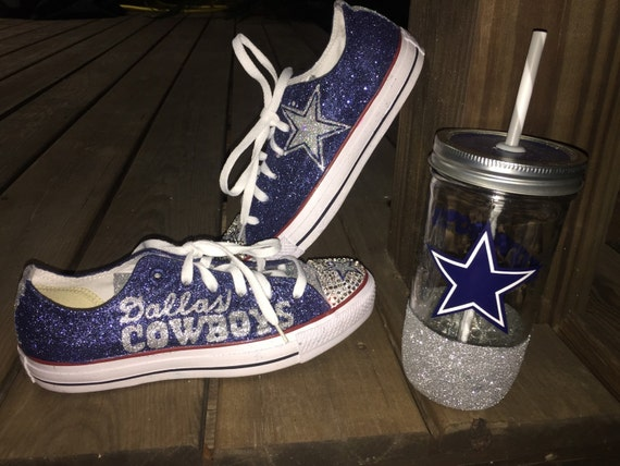 Dallas cowboys custom converse on etsy jpg 570x427 Custom dallas cowboys  ladies tennis shoes f98b0855b