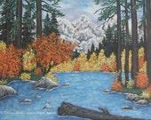 Art Print Autumn Leaves A...