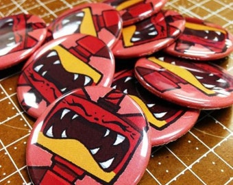 """Custom Lego™ Movie Super Angry Kitty 1.5"""" Button"""