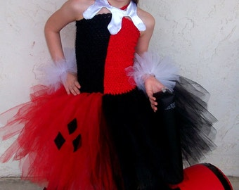 Harley Quinn inspired tutu dress costume