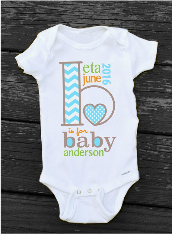 Pregnancy Announcement Onesie B Is For Baby Pregnancy Reveal