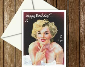Marilyn Monroe birthday card