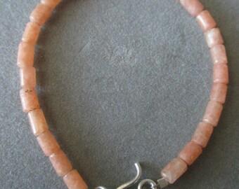 Beachy Sterling Silver Beaded Coral Bracelet