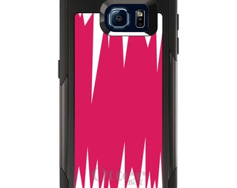 OtterBox Commuter for Galaxy S4 / S5 / S6 / S7 / S8 / S8+ / Note 4 5 8 - CUSTOM Monogram - Any Colors - Hot Pink White Spikes