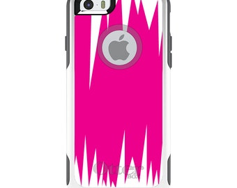 OtterBox Commuter for Apple iPhone 5S SE 5C 6 6S 7 8 PLUS X 10 - Custom Monogram - Any Colors - Neon Pink White Spikes