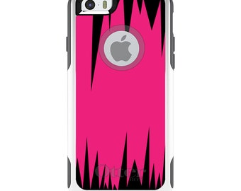 OtterBox Commuter for Apple iPhone 5S SE 5C 6 6S 7 8 PLUS X 10 - Custom Monogram - Any Colors - Hot Pink Black Spikes