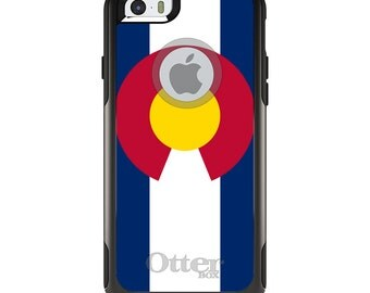 OtterBox Commuter for Apple iPhone 5S SE 5C 6 6S 7 8 PLUS X 10 - Custom Monogram - Any Colors - Colorado State Flag