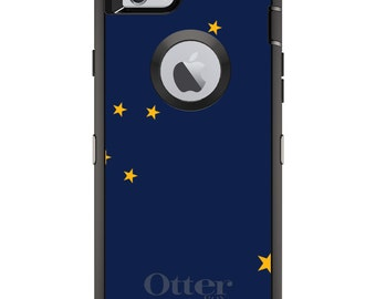 CUSTOM OtterBox Defender Case for Apple iPhone 6 6S 7 8 PLUS X 10 - Personalized Monogram - Alaska State Flag