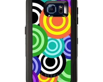Custom OtterBox Defender for Galaxy S5 S6 S7 S8 S8+ Note 5 8 Any Color / Font - Multi Color Swirls
