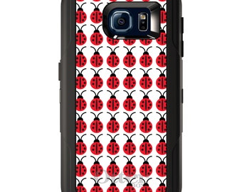 Custom OtterBox Defender for Galaxy S5 S6 S7 S8 S8+ Note 5 8 Any Color / Font - Red White Black Lady Bugs