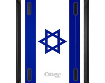 Custom OtterBox Defender for Apple iPad 2 3 4 / Air 1 2 / Mini 1 2 3 4 - CUSTOM Monogram - Israel Israeli Flag