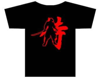 Samurai Warrior Kanji Character T-shirt