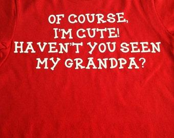 Cute Grandpa T Shirt