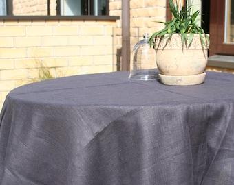 Linen Tablecloth/ Taupe/Natural Linen/Linen Home Decor/Table Linens