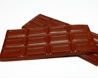 2 Chocolate Bar Shaped Soaps