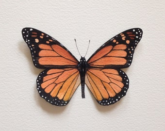 Hand-painted Monarch Butterfly Specimen