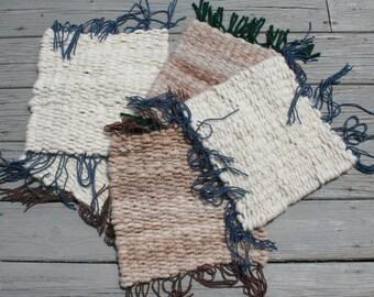 Cat mats!  100% alpaca luxurious softness for your small pet (undyed)