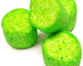 Green Sugared Marshmallows 2 Pounds White Approx. 100 Pieces